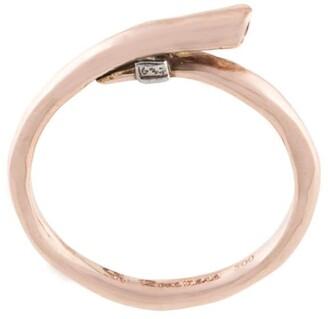 Rosa Maria Britt 18kt rose gold ruby-embellished ring