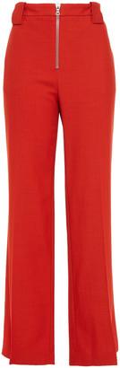 Victoria Victoria Beckham Grain De Poudre Wool-blend Wide-leg Pants