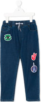 Kenzo multi-patches drawstring jeans