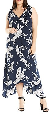 Estelle Plus Endless Summer Handkerchief Hem Dress