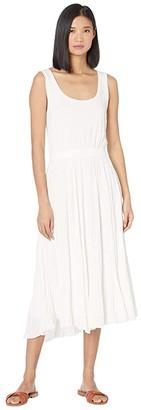Vince Pleated Scoop Neck Tank Dress (Off-White) Women's Dress