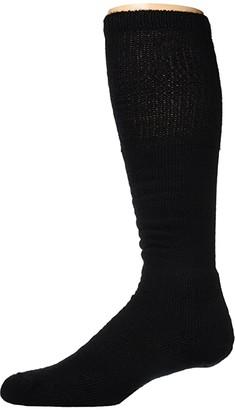 Thorlos Workboot Over Calf Single Pair (Black) Crew Cut Socks Shoes
