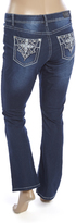 ZCO Dark Blue Embellished-Pocket Flare Jeans - Plus