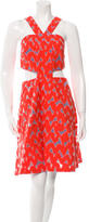 Markus Lupfer Printed Cutout Dress