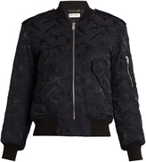 Saint Laurent Camouflage-jacquard padded bomber jacket