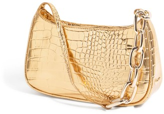 House of Want Newbie Baguette In Gold Croco