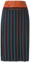 Tory Burch pleated skirt - women - Silk/Wool - 2