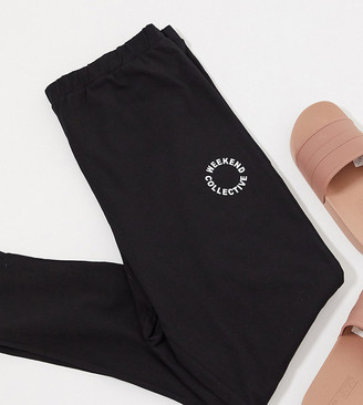 ASOS Weekend Collective Curve co-ord legging in black