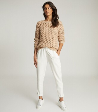 Reiss Natalie - Open-knit Oversized Jumper in Neutral