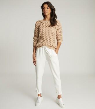 Reiss Natalie - Open-knit Oversized Jumper in Neutral