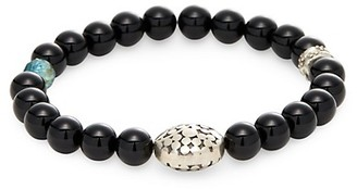 Jean Claude Crystal and Sterling Silver Beaded Bracelet