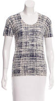 Prada Abstract Patterned Knit Top