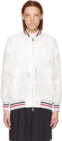 Moncler Gamme Rouge White Lace Lauren Bomber Jacket