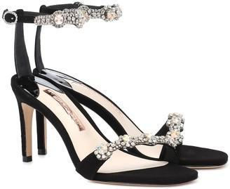 Sophia Webster Aaliyah embellished suede sandals