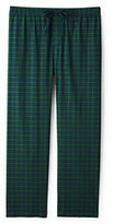 Classic Men's Tall Fit Broadcloth Pajama Pants Navy Check
