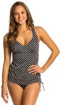 Penbrooke Neautral Spot Adjustable Side Fauxkini One Piece Swimsuit 8136139