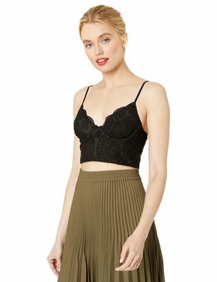 Finders Keepers findersKEEPERS Women's Kobie Lace Crop Bra Top Fashion Bodice