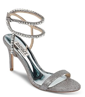 Badgley Mischka Women's Claudette Crystal Embellished Strappy High-Heel Sandals