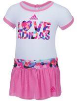 """adidas Size 6M 2-Piece """"Love Bodyshirt and Skort Set in Pink"""