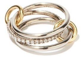Spinelli Kilcollin Sonny Diamond & 18kt Black Gold Ring - Black Gold