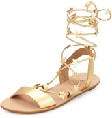 Loeffler Randall Starla Leather Gladiator Sandal, Pale Gold