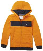 Nautica Little Boys' Contrast Stripe Zip Hoodie (2T-7)