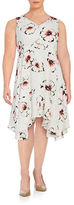 Ivanka Trump Plus Floral Crepe A-Line Dress