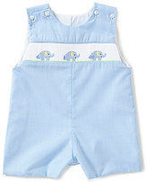 Edgehill Collection Baby Boys 3-9 Months Elephant Smocked Shortall