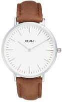 Cluse La Bohème Leather Strap Watch, 38mm