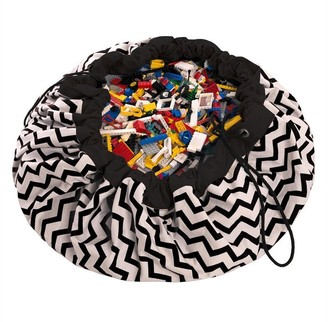 PlayGo LTD Play & Go 2-in-1 Storage and Playmat, Black Zigzag