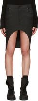 Haider Ackermann Black Asymmetric Denim Miniskirt