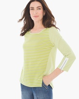 Chico's Rylee Variegated Stripe Tee