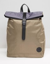 French Connection Nylon Fold Top Backpack