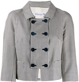 Christian Dior Pre-Owned Houndstooth Double-Breasted Jacket