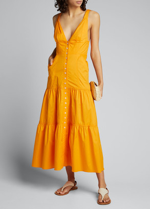 A.L.C. Jordyn Tiered Midi Dress
