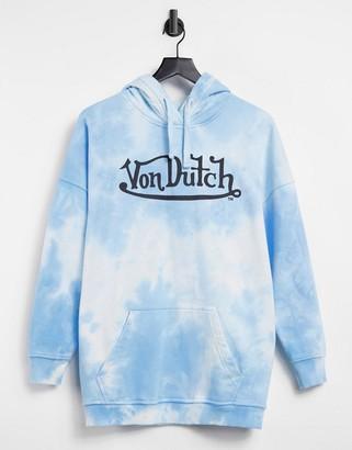 Von Dutch oversized tie dye hoodie