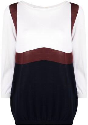 Prada Pre-Owned 1990s Colour-Block Wool Jumper