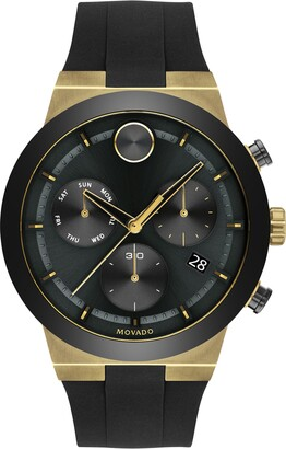 Movado Bold Fusion Chronograph Silicone Strap Watch, 44.5mm