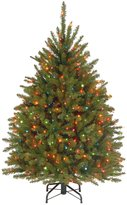 Dunhill National Tree 4 1/2' Fir Hinged Tree with 450 Multi Lights - 48 in. - 60 in.