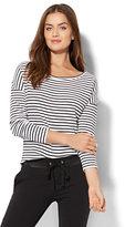 New York & Co. Street Wear - Ribbed-Knit Dolman Top - Stripe