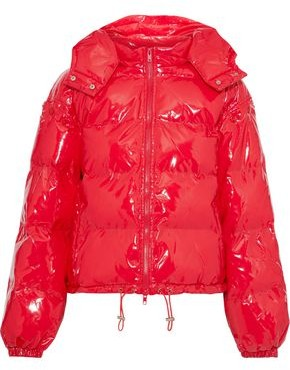 Walter Baker Keri Quilted Glossed-shell Hooded Jacket