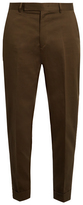 Paul Smith Tapered-leg cotton and linen-blend trousers