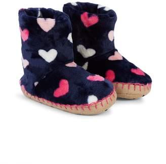Hatley Baby Girl's, Little Girl's & Girl's Heart-Print Fleece Slippers