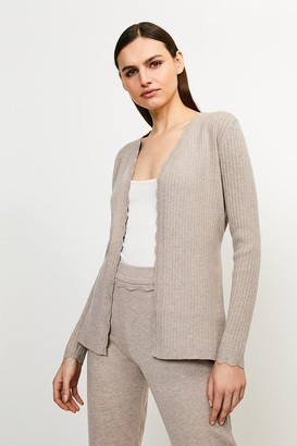 Karen Millen Rib Knit Corset Cardigan
