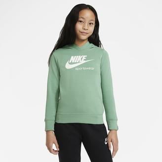 Nike Big Kids' (Girls') Pullover Hoodie Sportswear Heritage