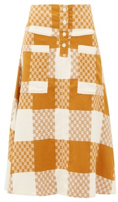 Ace&Jig Maisie Checked Cotton A-line Skirt - Womens - Beige Multi