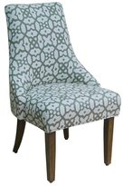 HomePop Green/ White Woven Lattice Accent Chair Set of 2