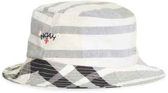 Noah Madras Cotton & Linen Bucket Hat