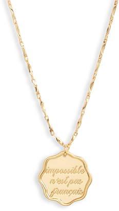 Jonesy Wood Nothing is Impossible Pendant Necklace