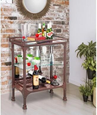 Canora Grey Mclean Bar Cabinet Color: Antique Espresso